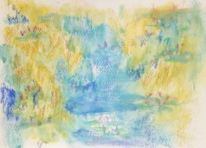 les nympheas de Monet d'apres l'atelier de créativité de douleur chronique
