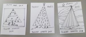 cartes de noel de Manon